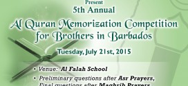 5th Annual Al Quran Memorization Competition