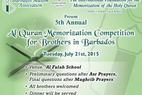 5th Annual Al Quran Memorization Competition
